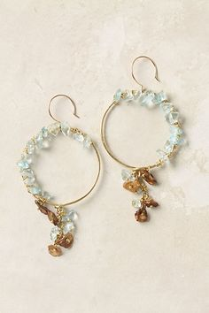 wire and gemstone hoops