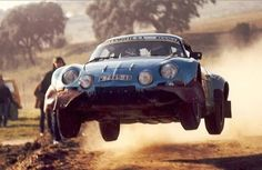 Renault Alpine A110. East African Safari Rally.