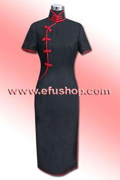 Cotton Cheongsam SCO46 - Custom-made Cheongsam,Chinese clothes, Qipao, Chinese Dresses, chinese clothing,EFU Tailor Shop