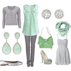 Mint and Dove Grey. Great Colors for spring!
