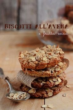 Biscotti all'avena e frutta secca | MIEL & RICOTTA