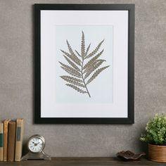 Fern Framed Print I