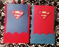 Superhero party ideas: superman gift bags, superman cap treat bags ~~~MADE TO ORDER~~~ Please do not buy from this listing, please send me a message and i will create a custom listing for you. Superman Birthday Party, Batman Party, Superhero Party, Goodie Bags, Treat Bags, Gift Bags, Birthday Decorations, Birthday Party Themes, Superman Gifts