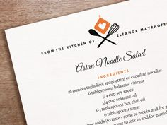 Day 24: Editable, printable recipe template design from e.m.papers