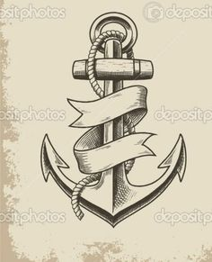 classic anchor tattoo