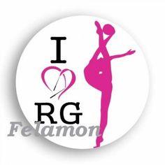I Love RG kitűző - Ritmikus Gimnasztika Sportáruház