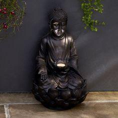 Buddha Solar Garden Light | Lights4fun.co.uk