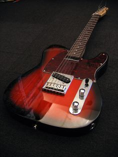 Telecaster - what a nice 'burst finish on this one
