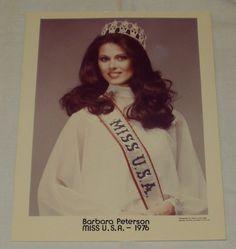 1976 Miss USA Pageant Photo Barbara Peterson of Minnesota