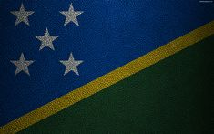Download wallpapers Flag of Solomon Islands, 4k, leather texture, Oceania, Solomon Islands, flags of the world