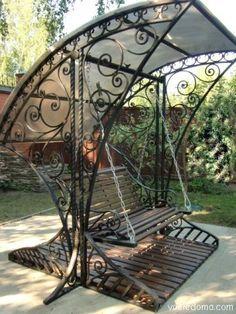 Pergola For Sale Lowes Bench Swing, Pergola Swing, Metal Pergola, Pergola Plans, Modern Pergola, Diy Pergola, Pergola Kits, Gazebo, Iron Furniture