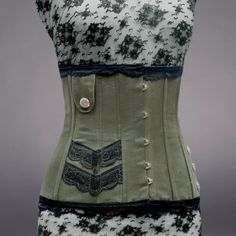 Military underbust corset with machined screws  Made by freyagushi, £185.00