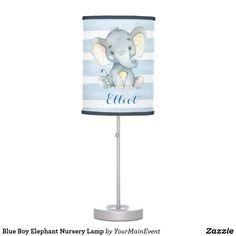 Blue Boy Elephant Nursery Lamp Elephant Nursery Lamp, Elephant Theme, Pink Elephant, Nursery Lamps, Nursery Décor, Nursery Ideas, Baby Boy Room Decor, Baby Boy Rooms, Baby Boy Nurseries