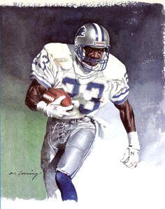 Mel Gray, Detroit Lions by Merv Corning, 1991