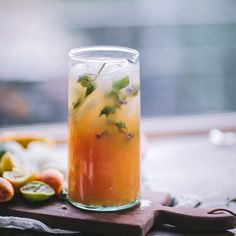 Gin citrus punch: 3 parts mixed citrus juice, 1 part gin, 1 part tonic. The solution to every hot summer night. Served in @food52's hand blown Moroccan glass pitcher as a part of the Burnt Toast #f52brigade More tasty shots from the dinner coming soon!! #f52grams