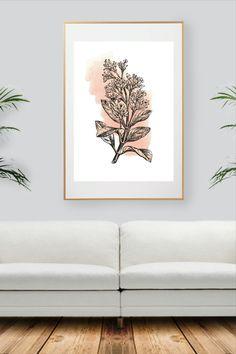 Colorful Wall Art, All Print, Decoration, Watercolor Art, Wall Art Prints, Wall Decor, Handmade Gifts, Nature, Plants