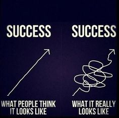 true story. And still getting there... People always have a misconception on how people become successful. They think its been a smooth road the whole way... I think going through the rough paths and learning from it is the beauty of it all.