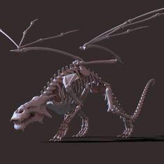 High detailed model of Dragon Skeleton. Dragon Skeleton, Dragon Eye, Fantasy Creatures, Mythical Creatures, Dragon Anatomy, Dragon Project, Dragon Sketch, Dragon's Lair, Legendary Creature