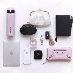 Press VISIT link above for more options What In My Bag, What's In Your Bag, Claudia Rodriguez, Inside My Bag, What's In My Purse, Purse Essentials, Magic Bag, Travel Bags For Women, Handbag Organization