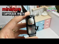 미니어쳐 타일식탁 만들기 miniature tile table / kitchen counter - YouTube