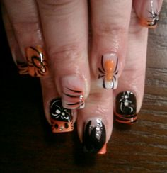 Halloween nail art. Nails By Ramona