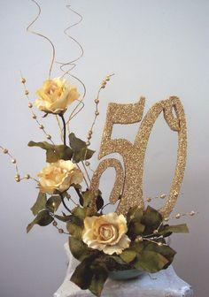 50th wedding anniversary centerpieces flower brances