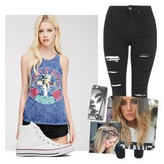 """Perrie's style"" by danifashionblog on Polyvore featuring Forever 21, Topshop, Converse and Zero Gravity"