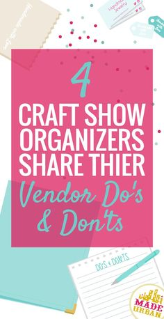 There are so many great craft shows and markets out there but they're also getting more competitive. It's not enough to just apply and show up with a handful of products; you need to be sure you're putting effort into your application & booth display and practicing your selling techniques. We asked 4 event organizers who put on amazing shows to give us some advice on applying, setting up, selling and proper etiquette at a show. Click to read their advice!