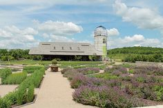 Missouri Barn from Villandry Quilt Garden, all part of the Heartland Harvest Garden at Powell Gardens. Powell Gardens, Harvest Garden, Incredible Edibles, Public Garden, Garden Photos, Heartland, Botanical Gardens, Places To Go, Trail