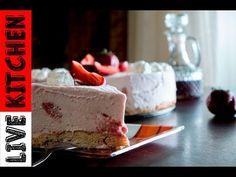 Τούρτα παγωτό φράουλα🍓Strawberry ice cream cake | Live KItchen - YouTube