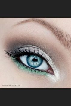 Fabulous Look for Blue, Green or Hazel Eyes -  Recreate with Driftwood & Mocha Eyeshadows with a Dragon Eyeshadow as Under Liner -  gracemyfaceminerals.co