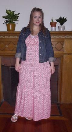 Maxi dress and denim