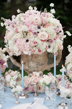 pale pink and white wedding centerpiece - just gorgeous! ~ we ❤ this! moncheribridals.com