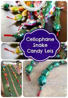 Cellophane Snake Candy Lei Party Favor