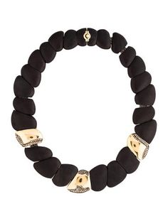 Roberto Coin Diamond & Ebony Capri Plus Necklace