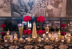 Gold, Black and Red stylish and sophisticated candy bar. -Shannon