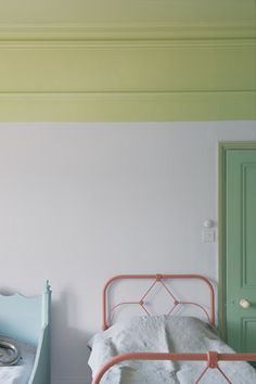 Farrow & Ball paint inspiration from love the various greens with the pink Farrow Ball, Demis Murs, Wimborne White, Interior And Exterior, Interior Design, Interior Paint, Interior Ideas, Kid Decor, Bedrooms