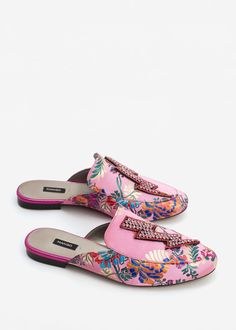 Crystal slip on loafers -  Women | MANGO USA