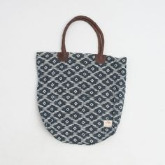 Hand block Bag in Blue Diamonds by Hokoda on Etsy, $39.00