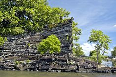 Hot, hard, heavy slabs weighing 5-20 tons each, stacked up neatly at 90-degree angles -- as if they were match sticks. Monumental, pre-Flood art by maniacs? It could not be replicated today, and money is not the problem. Physics is the problem.  Nan Madol consists of some 250 million tons of 10-30 foot long basalt crystal slabs, forming walls up to 40 feet high. Legend says that two god brothers did it in one day. Which is more plausible than floating them in one by one from the other side…