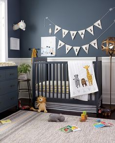 Shop Savanna Crib Bedding, Cargo Crib (Charcoal), Cargo 2-Over-2 Changing Table (Charcoal), Bold Type Flag Letters, Charming Creatures Alpaca Decor and more