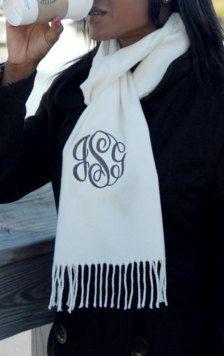 monogrammed scarf!