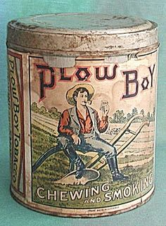 Vintage Plow Boy Tobacco Tin Paper Label
