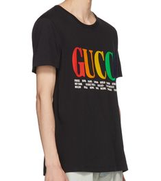 be559cf0b93 GUCCI 2018 black cities Logo oversize t-shirt man XS S M L XL XXL (eBay  Link)