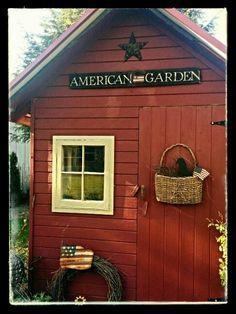 ☆Great idea to incorporate into our - RECYCLE BIN Mini SHED - near the front door opposite the Little Free Library & garden area☆ ♡♡♡♡♡♡♡♡  No windows... Garden Yard Ideas, Garden Sheds, Garden Gates, Backyard Sheds, Garden Tools, Garden Landscaping, Shed Storage, Porches, Potting Sheds