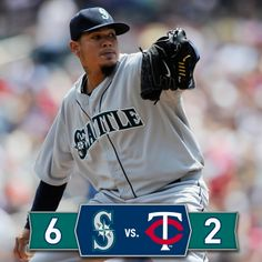 Felix throws eight dominant innings, Robbie collects four hits in 6-2 #Mariners win over #Twins. 5/18/14