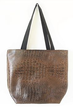 ALMZT-Brown All Faux Leather Alligator