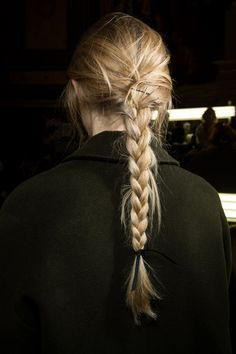 Trendy hair for FW Braids. Classic back braid hair adorn with black ribbon at Lanvin fall winter More Hair Trends. Pretty Hairstyles, Braided Hairstyles, Toddler Hairstyles, Simple Hairstyles, Girl Haircuts, Natural Hairstyles, Wedding Hairstyles, Hair Inspo, Hair Inspiration