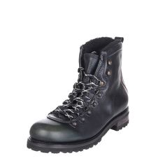 dcf1e736944 DSQUARED2 Leather Combat Boots Size 43.5 UK 9.5 Faux Fur Made in Italy   fashion