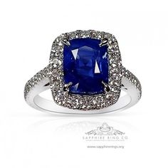 Custom blue sapphire & diamond ring set with ct cushion cut Ceylon sapphire into antique platinum 950 diamond ring. Natural Sapphire Rings, Sapphire Wedding Rings, Pink Sapphire Ring, White Gold Wedding Rings, Diamond Rings For Sale, Platinum Diamond Rings, Diamond Pendant, Wedding Rings Online, Ring Size Guide